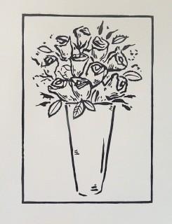 Linocut. Edition 50. 21.3cm x 14.7cm.