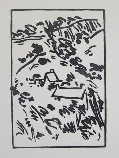 Linocut. Edition 100. 11.1cm x 7.7cm.