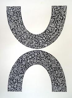 Linocut. Edition 25. 33.5cm x 24.5cm