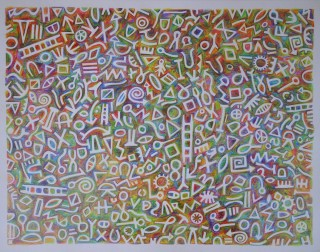 Black Pal Coloured Pencil. 24.5cm x 32.0cm