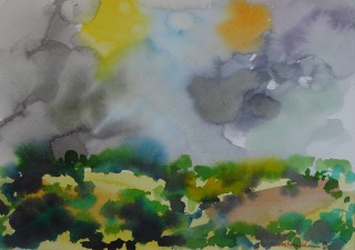 Watercolour. 24.0cm x 34.0cm