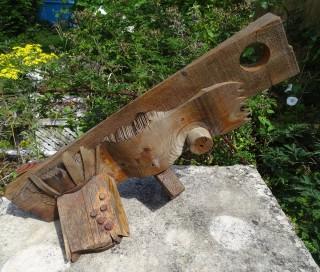 Wood Assemblage. H52.0cm x D30.0cm x L72.0cm approx