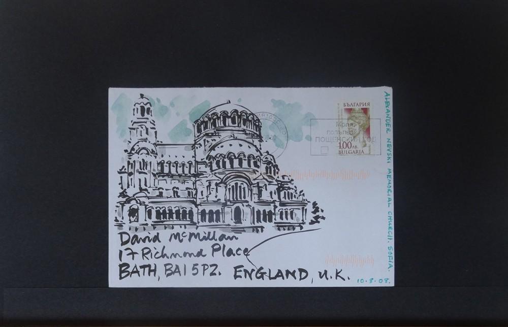 Watercolour & Ink. C6 Envelope