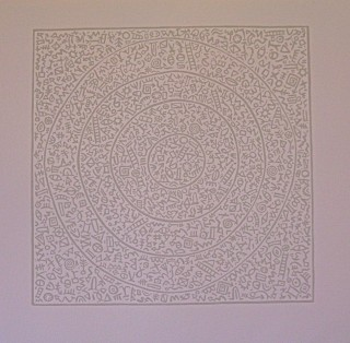 Linocut. 30.5cm x 30.5cm